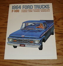 1964 Ford Truck F-100 Pickup Foldout Sales Brochure 64