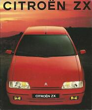 Citroen ZX UK Market Brochure 1991 36 Pages Ft Advantage Aura Volcane & Reflex
