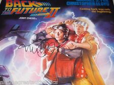 MICHAEL J FOX SIGNED 'BACK TO THE FUTURE II' FULL SIZE MOVIE POSTER W/COA PROOF