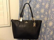 NWT. COACH CROSSGRAIN LEATHER AVA TOTE HANDBAG SHOULDER BAG BLACK F57526
