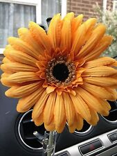 LARGE GOLD GERBERA, VW BEETLE, ANY CAR. STYLE DASH BUD VASE FLOWER, UNIVERSAL