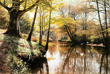 Fiume Landscape in Springtime by Monsted Tela Di Cotone/Stampa Artistica Poster