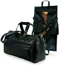 "GP Estate 21"" Koskin Leather Carry-On 2-in-1 Sports Duffel Business Garment Bag"