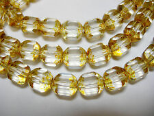 25  8mm Czech Glass Faceted Tube Beads Crystal Picasso