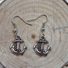 Free shipping Antique Silver Jewelry Anchor earring @1