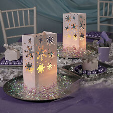12 Christimas Winter Holiday Party Decorations SNOWFLAKE LUMINARY BAGS Frozen