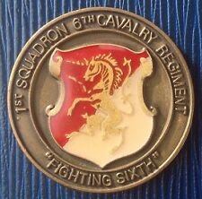 "1st Squadron 6th Cavalry Regiment ""Fighting Sixth"" Korea Military Challenge Coin"