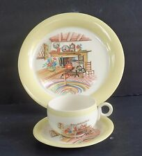 LOVELY VINTAGE HOMER LAUGHLIN, U.S.A. 3 PIECE SET - EGGSHELL, FIREPLACE HEARTH