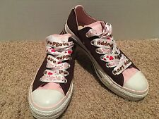 Converse All Star Brown Canvas W/ Pink Accent Sneakers Women's Sz. 7