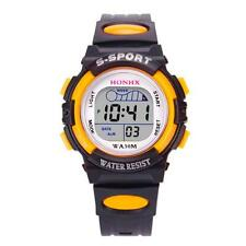 Waterproof Children Boys Digital LED Sports Watch Kids Alarm Date Watch