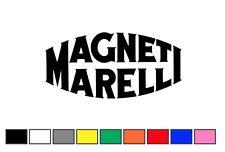 coppia adesivi MAGNETI MARELLI 12x6cm decal sticker ritagliato auto moto adesivo
