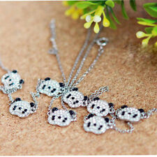 Lovely Sliver Panda Bracelet Rhinestone Bangle Jewelry (three bears) Accessories