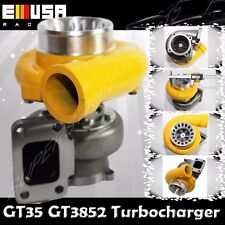 EMUSA YELLOW GT35 GT3582 TURBO CHARGER T3 AR.70/82 ANTI-SURGE COMPRESSOR
