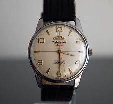 Hermoso Muy Grande Atlántico worldmaster 21 joyas neta Reloj de década de 1950