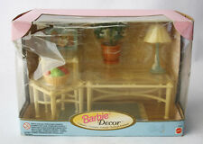 VERY RARE 1998 BARBIE DECOR COLLECTION LIVING ROOM TABLE & CHAIR MATTEL NEW MIB!