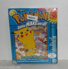 NEW SEALED POKEMON PROJECT STUDIO BLUE VERSION WINDOWS CD ROM GAME - MAKE CARDS+