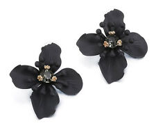 MARNI H&M Black Flower  Earrings
