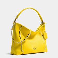 Coach Crossbody scout Hobo Shoulder Yellow Leather Top Zip Bag Purse Handbag NWT