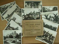 SNAP SHOT SOUVENIR ALBUM 12 REAL PHOTOGRAPH VIEWS SANDRINGHAM NORFOLK