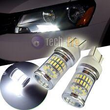 2x White Reflector LED Bulbs for Volkswagen B7 Passat Beetle Daytime DRL Lights