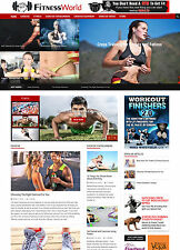 EXERCISE & FITNESS TRAINING GYM affiliate website for sale Responsive Design