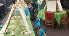 5 used wooden tabletop easels foldup great for classrooms travel paint parties e