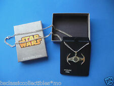 Star Wars Necklace Tie Fighter Etched Pendant - I Have You Now-Star Wars Jewelry