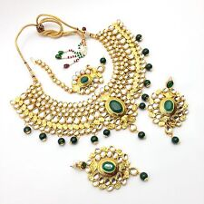 Indian Bridal Jewellery Bollywood Asian Party Ethnic Wear kundan Necklace Set