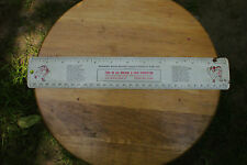 Old Vintage Milwaukee Braves 1957 Schedule Ruler Advertising Fond Du Lac Rare