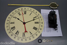 NEW QUARTZ CALENDAR CLOCK PENDULUM MOVEMENT KIT WITH DIAL - service repair parts