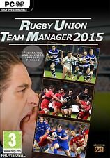 Rugby Union Team Manager 2015 [PC-DVD Computer Game, Sports] Brand NEW