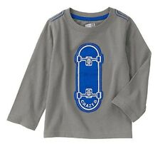 NEW Crazy 8 Baby Toddler Boys 5T Skateboard Cotton Long Sleeve Shirt