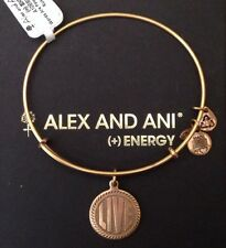 Authentic Alex and Ani Bracelet * LIVE RETIRED RARE NEW Bangle GOLD Beaded BOX