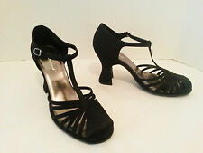 "Unlisted Tap Along Womens Dress Heels Shoes Size 9 1/2 M Black  3 1/2"" Heel"