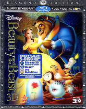 Beauty and the Beast (Blu-ray/DVD, 2011, 5-Disc Set, Diamond Edition Includes...
