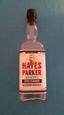 "HAYES  PARKER         ""SPICE  FLAVORED  BOURBON  WHISKEY""     EMPTY  BOTTLE"