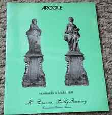 CATALOGUE VENTE ENCHERES 1990 DROUOT Rieunier Bailly STATUAIRE statues bustes