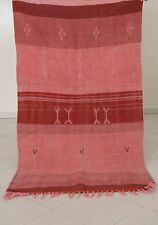 Moroccan Berber Flatweave Kilim Aknif Rug Carpet - Shades of Red -