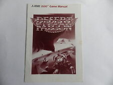 DESERT FALCON ATARI 2600 Notice livret instruction manuel FR