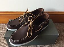 Brand New Mens Brown Leather Timberland Boat Shoes Uk Size 10.5