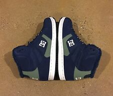 DC Rebound High WNT Women's Size 10.5 Navy BMX Skate Shoes Sneakers