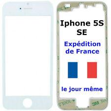 VITRE écran Apple IPHONE 5S / SE BLANC + Chassis cadre contour bezel +Adhésif 3M