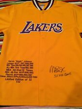 Magic Johnson Autographed Limited Edition Lakers Warm-Up 1/32 PSA/DNA
