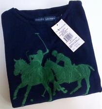RALPH LAUREN COLLECTION NAVY GREEN BIG PONY KNIT TANK DRESS S 8 10 £220!