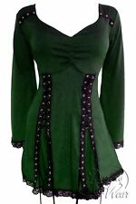 ELECTRA Renaissance Corset Top Envy GREEN Womens Plus Size 4X