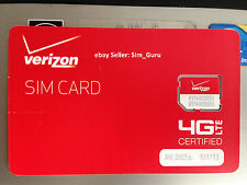 Verizon 4G LTE Micro Sim card for Samsung Galaxy Note4, Mega, Google Nexux 5X