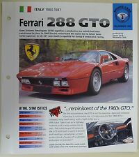 FERRARI 288 GTO IMP COLLECTOR BROCHURE SPECS 1984-1987 GROUP 3, NO 45