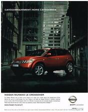 PUBLICITE ADVERTISING   2006   NISSAN  MURANO  LE CROSSOVER