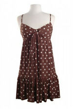 NWT 14 MUSE $159 Polka Dot Spaghetti Strap Twist Front Ruffled Sun Dress So Cute