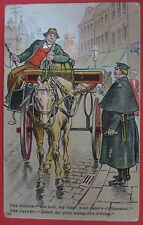 ANTIQUE COMIC POSTCARD-THE BOBBIE AND THE JARVEY